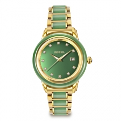 New Arrival Royal Jade Relógios Sapphire Glass Quartz Men Watch
