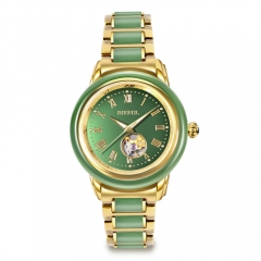 OEM retail luxury gift China tradicional Hetian jade watch